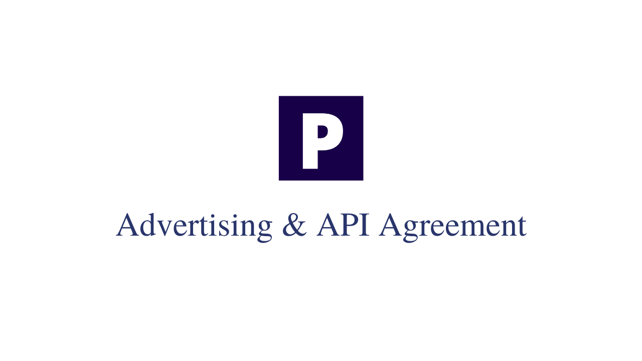 Advertising agreement tempate